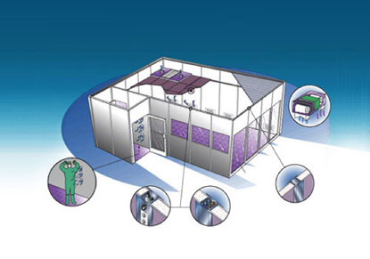 Cleanroom technical illustration